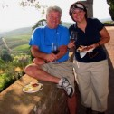 A Picnic Overlooking Vineyard in Tuscany