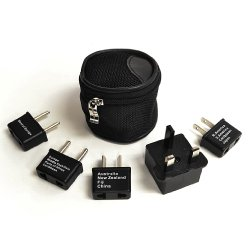 Ceptics International Worldwide Travel Adapter Plug 5pc Set with Pouch
