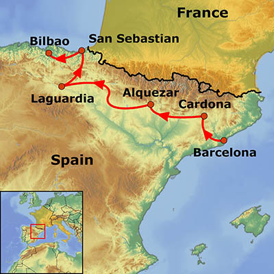 North Of Spain Map.Food Wine In The North Of Spain Go Get Lost